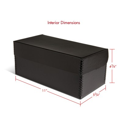 Negative storage box for 4x5 and 120 negatives-closed with interior dimensions
