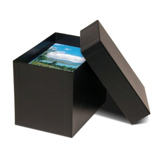 Black 4x6 proof box, shown opened