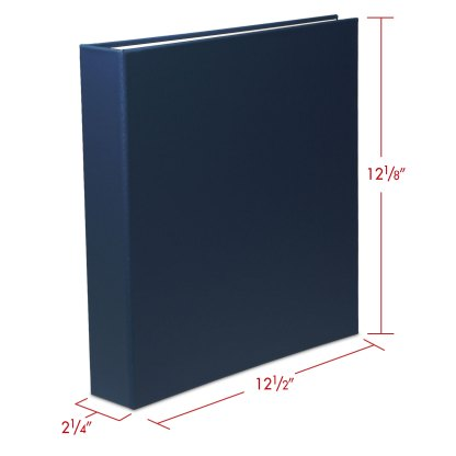 Blue 1.5 oversize binder with dimensions