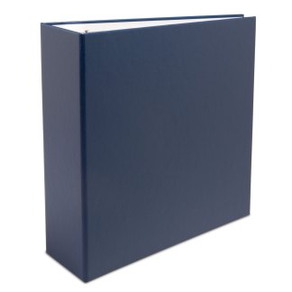 "Blue oversized 2.5"" binder"