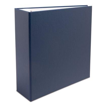 "Blue oversized 2.5"" binder"