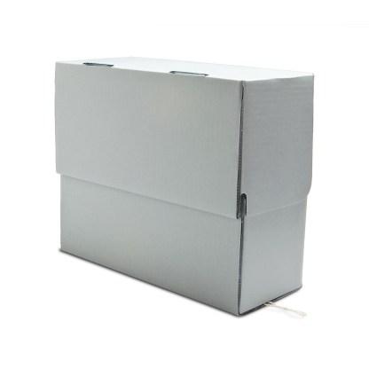 Corrugated document box-closed