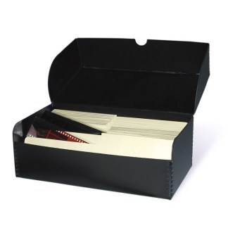 Flip-top negative storage box