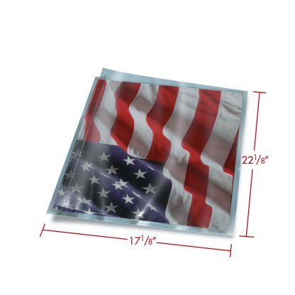 17x22 FoldFlap Sleeve with dimensions