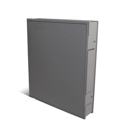 Gray Safe-T-binder closed