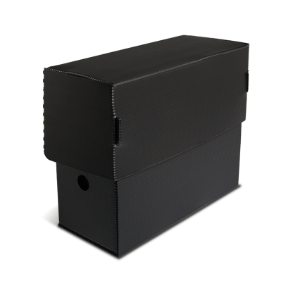 Black Micro-Perforated Document Box- closed