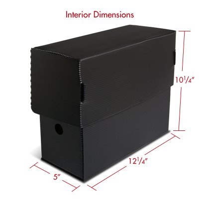 Letter size Micro-Perforated Document Box with dimensions