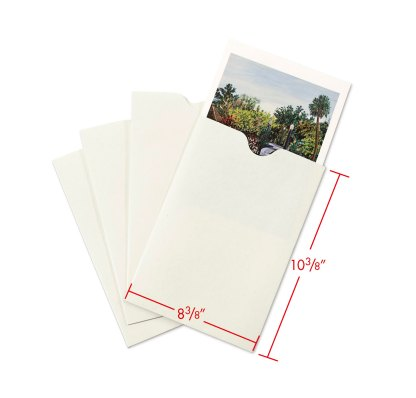8x10 Negative and Print envelope with dimensions