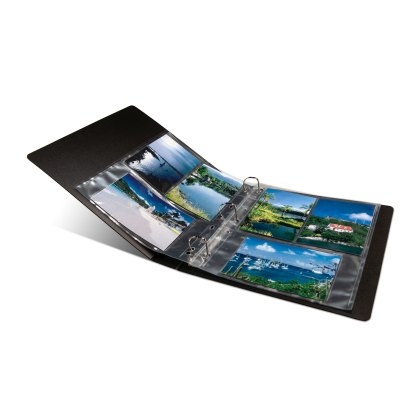 ARC-S album opened with clear photo pages and landscape photos