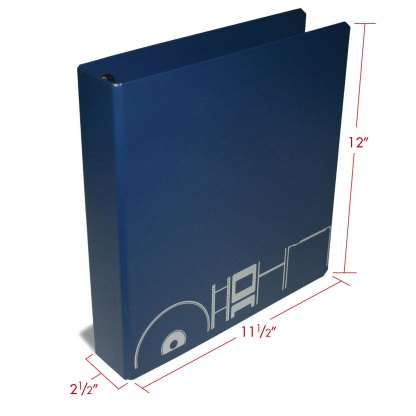 OB-1 album with dimensions