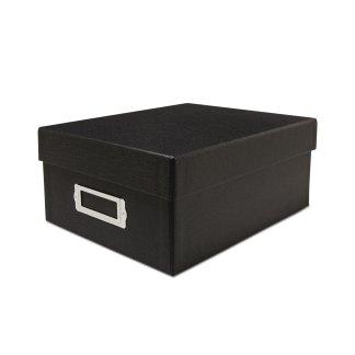 Black 4x6 photo storage box- closed