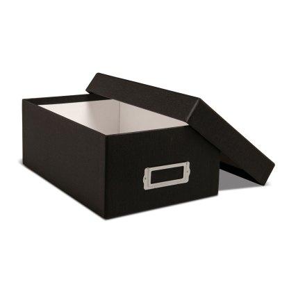 Black 4x6 photo storage box-opened