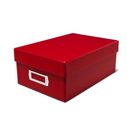 Red photo storage box- closed