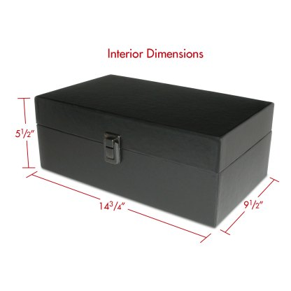 Photo or trading card storage box with dimensions