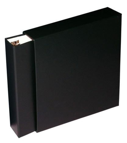 Black Oversized binder inside slipcase
