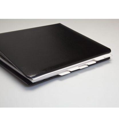 Tabbed dividers shown in standard album