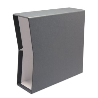 "Gray oversized 2.5"" slipcase"