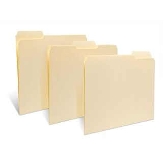 Group of 3 unreinforced file folders
