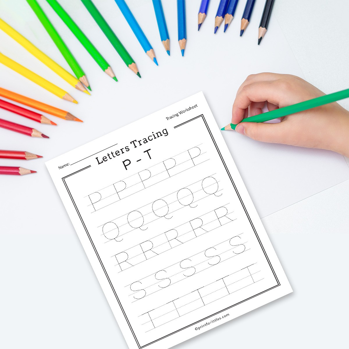 Free Printable Letters Tracing A Z Worksheets