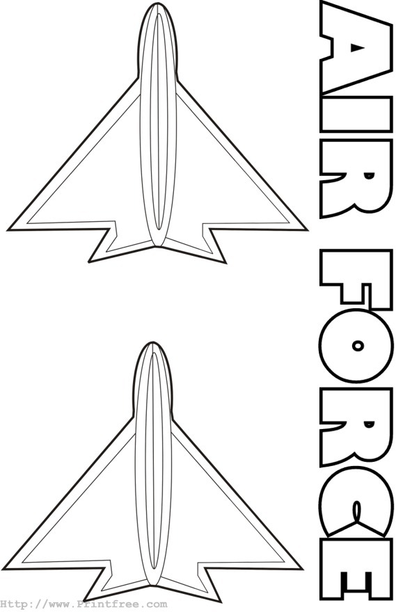 Coloring Page Image Air Force