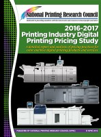 2016-2017 Digital Printing Pricing Study