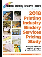 2018 Bindery Services Pricing Study