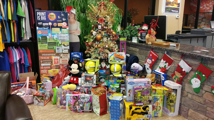 Many toys were collected for the Boys and Girls club