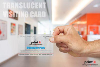 Translucent Visiting cards