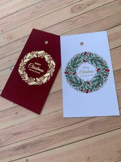 Foiled christmas tags