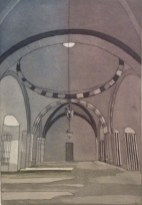 Anna Toppin, Interior 1, Etching and aquatint, 2013