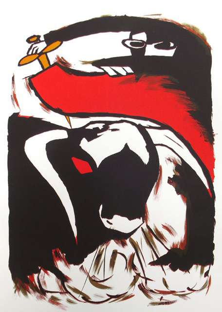 Gavin Iain Campbell, Olé el Toro, Screenprint, 2012