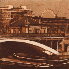 Victoria Ascanio, London Eye From Chelsea, Eching, Aquatint and drypoint
