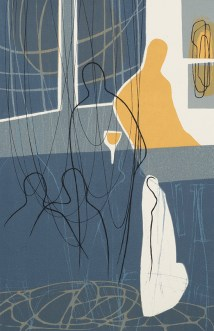 Helen Baines, The Man at the Corner table, Screenprint