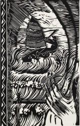 Graham Smith, The Windsurfer, Linocut