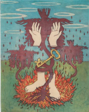 Heather Muise, Sacred Ground, 4 colour etching