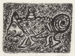 "Stephen Mumberson, German sayings 1 ""Seidoch keen Frosch"" (Don't be a frog), Lithograph"