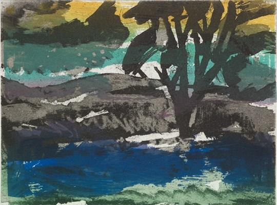 Julie Sullock, Yorkshire Landscape, Screenprint and etching