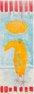 Caroline Whitehead, Flightless Ashore, Mokulito (wood litho)