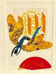 Sarah Booth 'Icarus Falling' screenprint collage £200