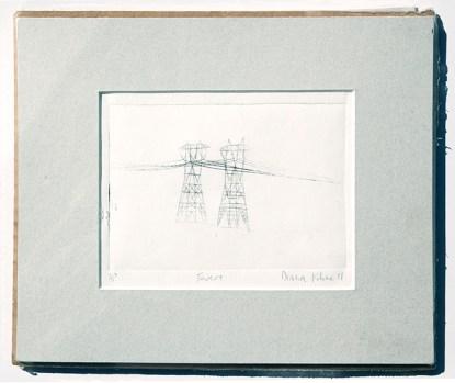 rustic electrical tower original art