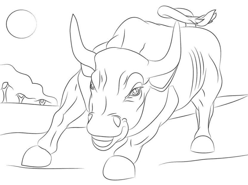 Dibujos Para Colorear Toros Imprimible Gratis Para Los