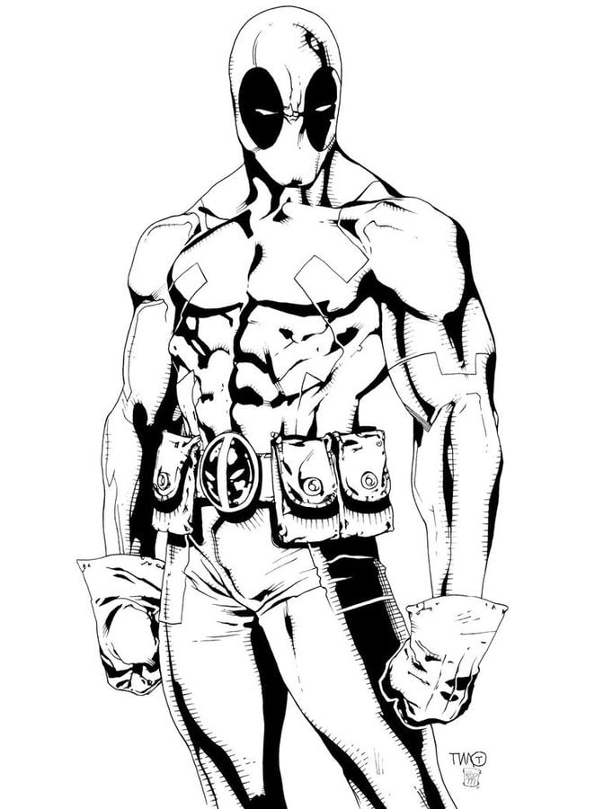 Coloring Pages Coloring Pages Deadpool Printable For Kids Adults Free
