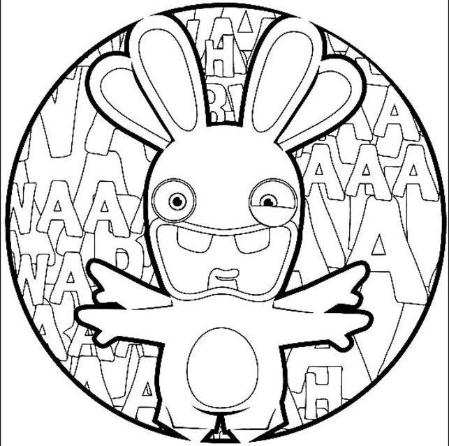 Coloriages Lapins Cretins Imprimable Gratuit Pour Les Enfants Et Les Adultes
