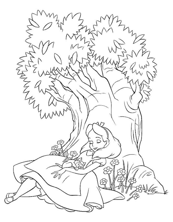 Coloring Pages: Coloring Pages: Alice In Wonderland, Printable For Kids &  Adults, Free