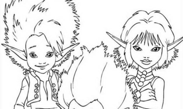 Coloring pages: Arthur and the Invisibles