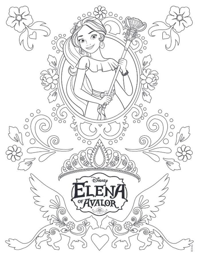 Kit imprimible y candy bar princesa elena de avalor y más.! Dibujos para colorear: Elena de Ávalor imprimible, gratis