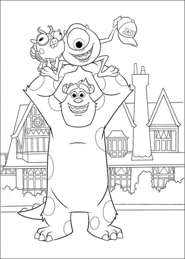 Monsters Inc University Coloring Pages 11 Globalchin Coloring