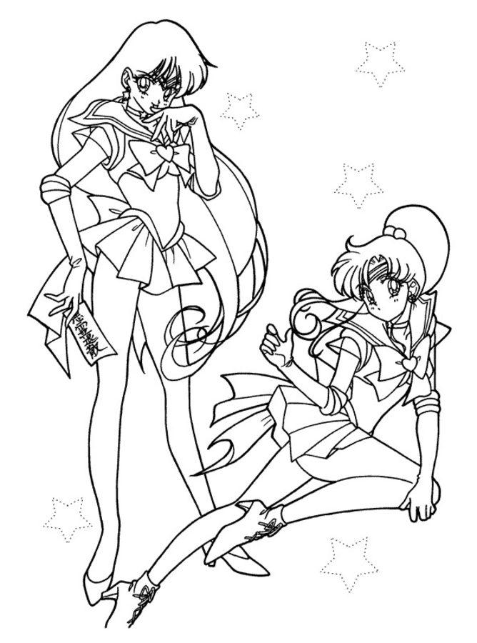 Dibujos Para Colorear Sailor Moon Imprimible Gratis Para