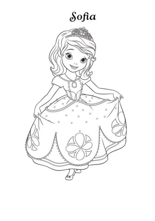Coloriages Princesse Sofia Imprimable Gratuit Pour Les Enfants Et Les Adultes