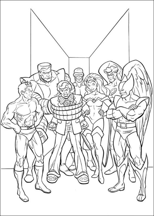 Dibujos Para Colorear X Men Imprimible Gratis Para Los